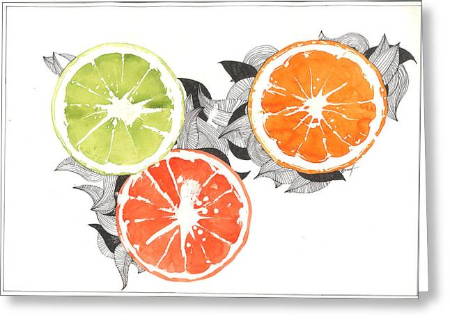 Orange Greeting Card by Viki Vehnovsky