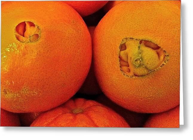 Oranges Greeting Card by Bill Owen