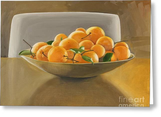 Oranges Greeting Card by Melissa Burke