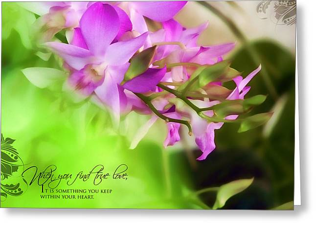 Orchid Art Greeting Card by Dumindu Shanaka