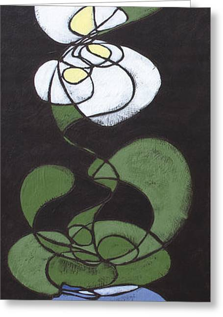 Greeting Card featuring the painting Orchid Floral 1 by John Gibbs