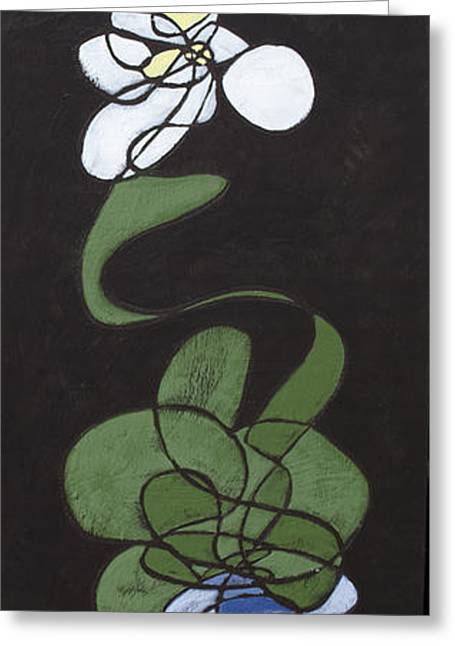 Greeting Card featuring the painting Orchid Floral 2 by John Gibbs