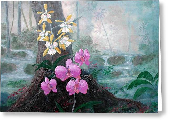 Orchid Wilderness Greeting Card