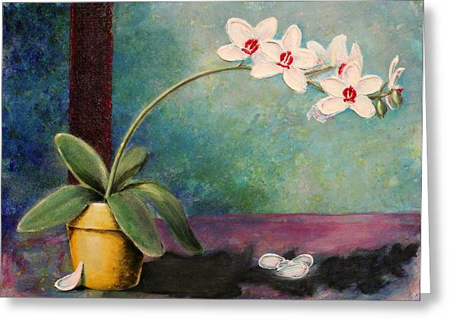 Orchids 1 Greeting Card by Ann Sokolovich