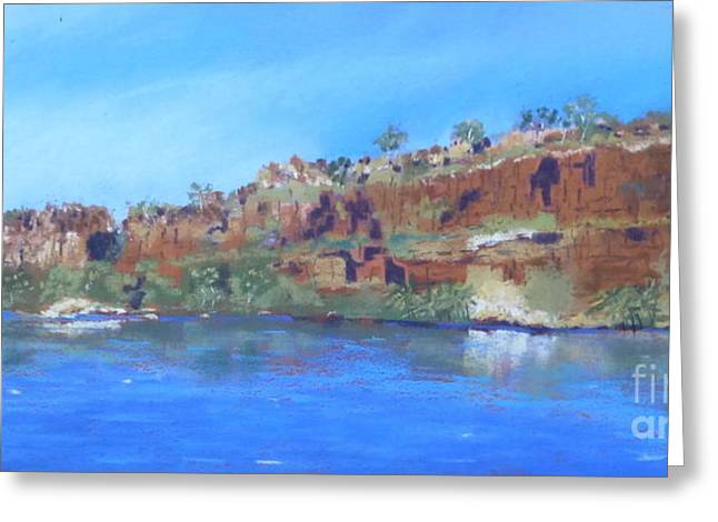 Ord River Afteroon Cruise Greeting Card by Nadine Kelly