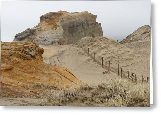 Oregon Sand Dunes Greeting Card by Athena Mckinzie