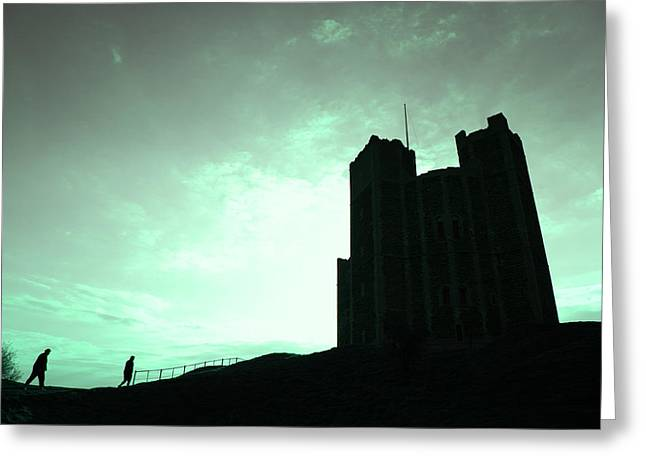 Greeting Card featuring the photograph Orford Castle by David Harding