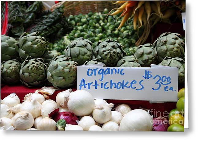 Organic Artichokes - 5d17065 Greeting Card by Wingsdomain Art and Photography