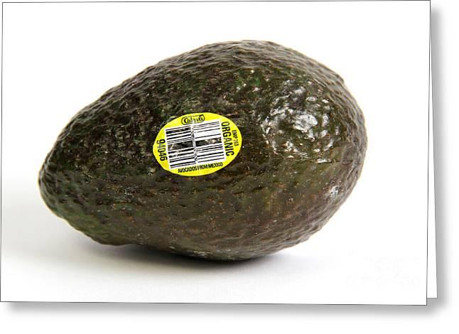 Organic Avocado Greeting Card
