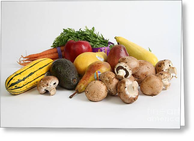 Organic Produce Greeting Card by Photo Researchers