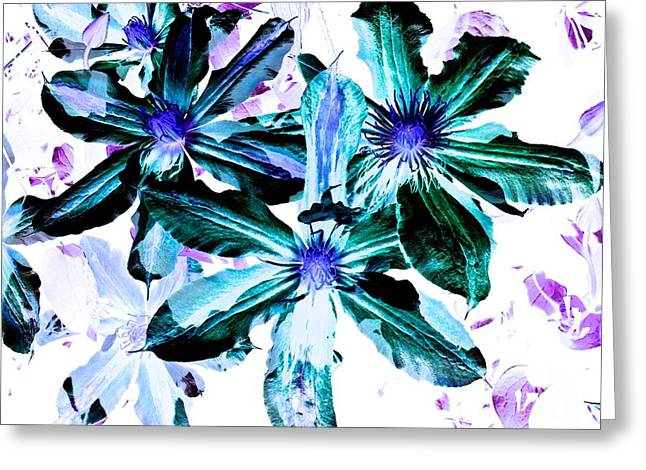 Organic Techno Flowers Greeting Card