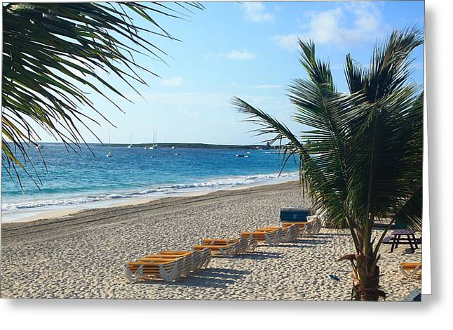 Greeting Card featuring the photograph Orient Beach St Maarten by Catie Canetti