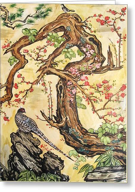 Oriental Landscape2 Greeting Card by Michail Noskov