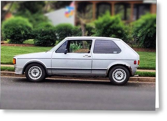 Original. #cars #vw #volkswagen #golf Greeting Card