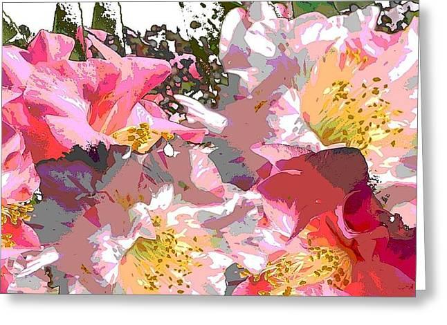 Original Fine Art Digital Camelias 1c Greeting Card