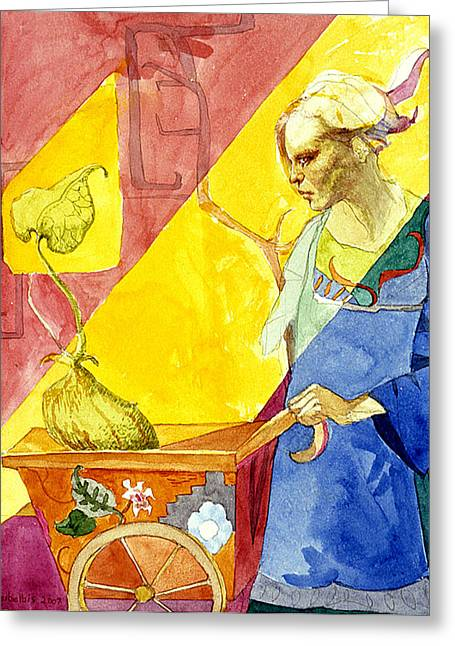 Origins 2 Greeting Card by Ellen Dreibelbis