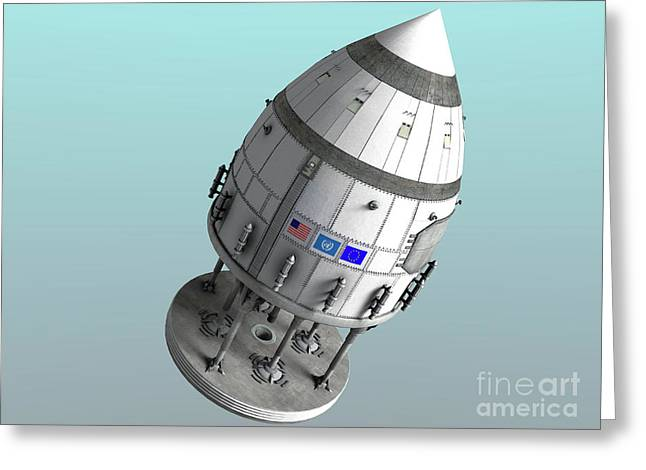 Orion-drive Spacecraft In Standard Greeting Card by Rhys Taylor