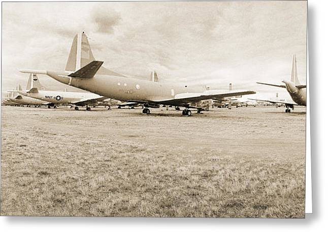 Orion P-3s Amarc - Tucson Greeting Card by Jan W Faul