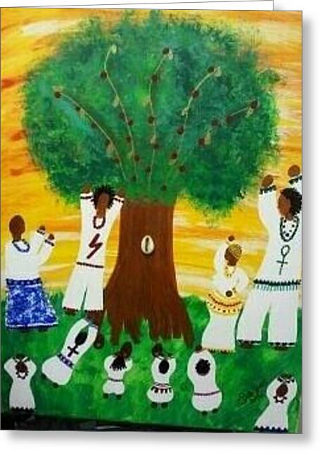 Orisha Family Worship Greeting Card