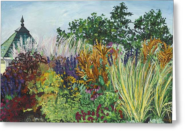 Ornamental Grasses In Longfellow Gardens Greeting Card by Christina Plichta