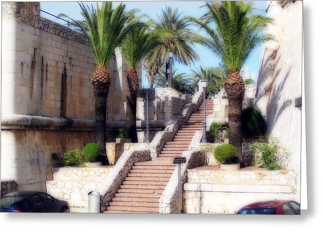 Ornamental Steps Greeting Card by Rod Jones