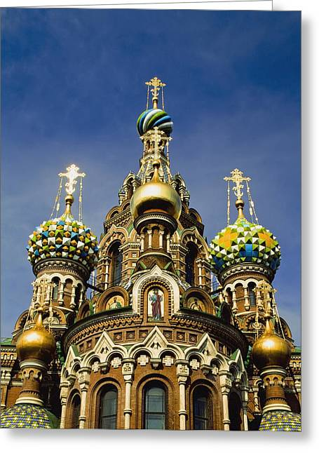 Ornate Exterior Of Church Of Spilled Greeting Card by Axiom Photographic