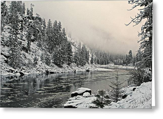Orofino Snow Clearwater River Greeting Card