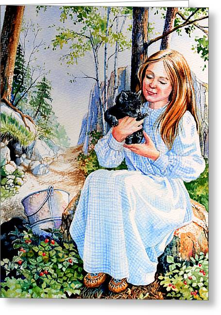 Orphaned Fox Pup Greeting Card