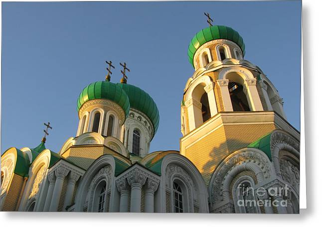 Orthodox Church Of Sts Michael And Constantine- Vilnius Lithuania Greeting Card