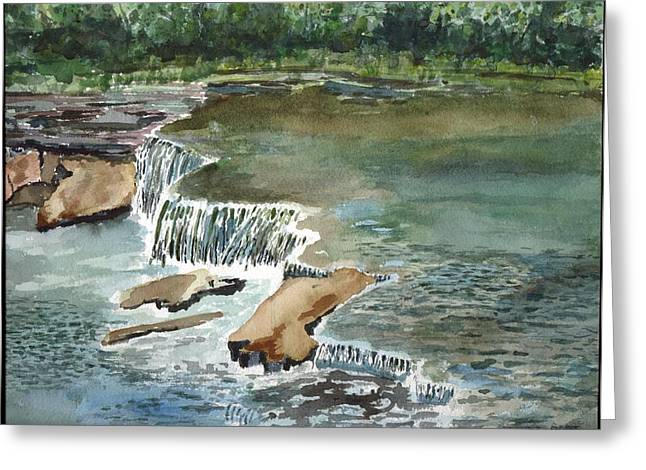 Osage Hills Greeting Card by Linda Pope
