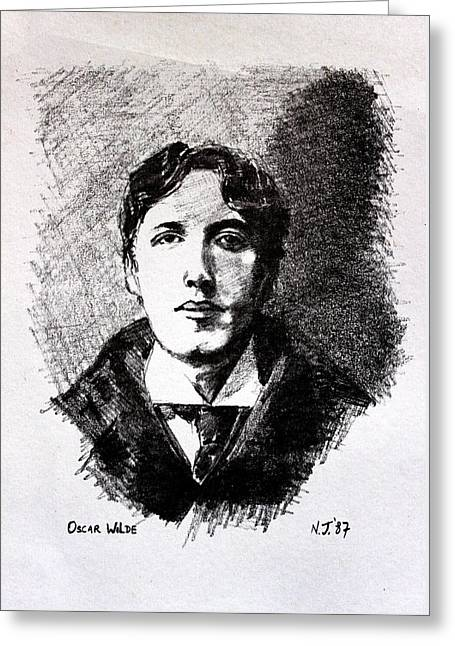 Oscar Wilde Greeting Card by John  Nolan