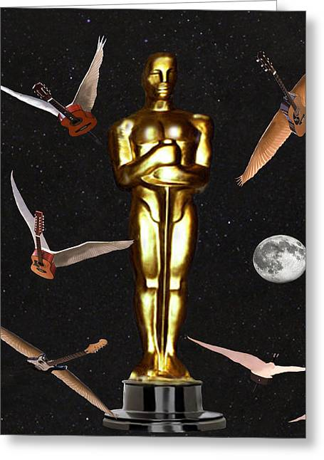 Oscars Night Out Greeting Card by Eric Kempson