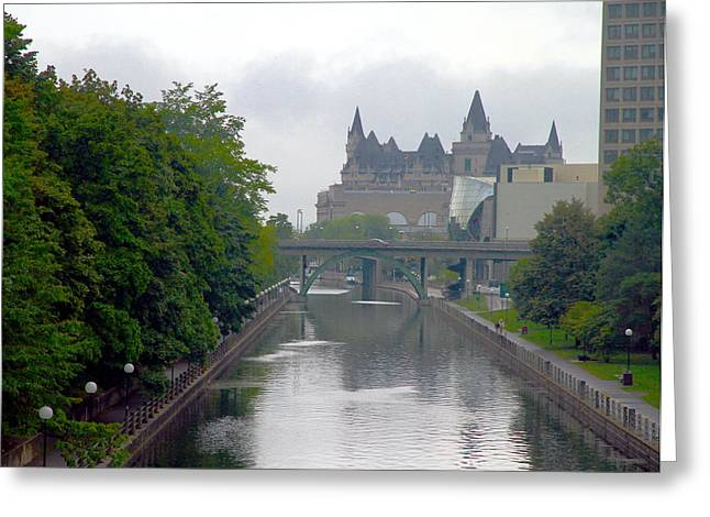 Ottawa Rideau Canal Greeting Card by Valentino Visentini