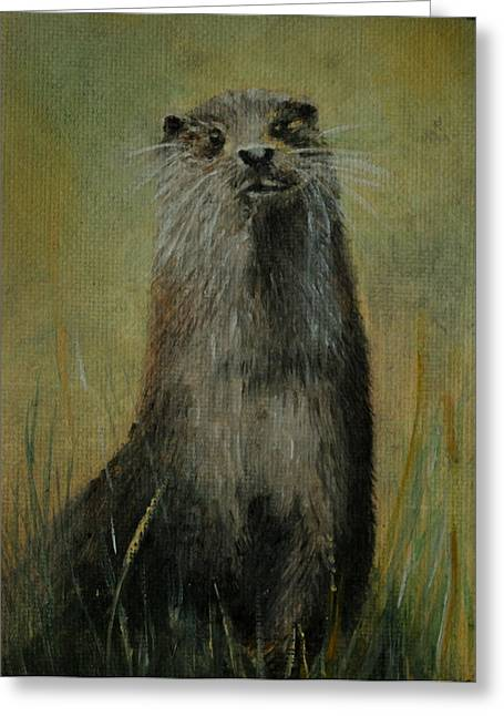 Otter  Miniature Greeting Card