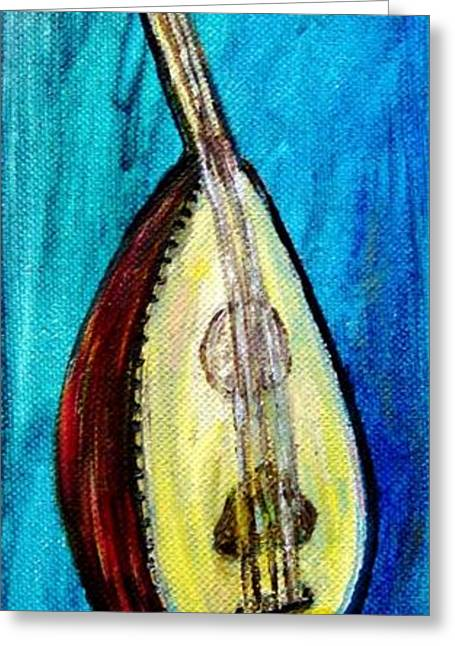 Greeting Card featuring the painting Oud  by Amanda Dinan