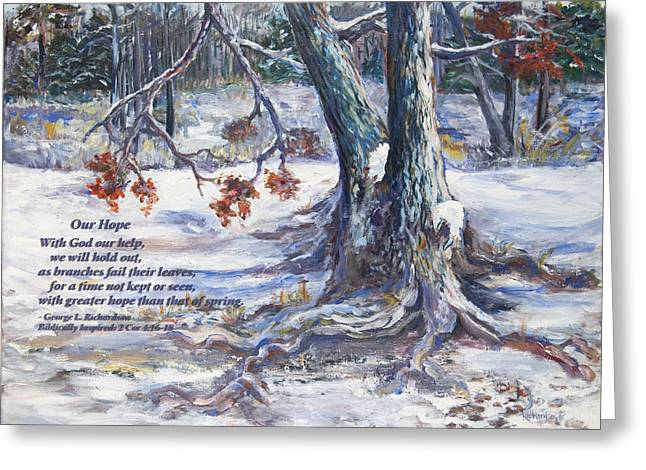Our Hope With Poem Greeting Card