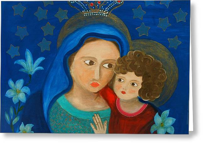 Our Lady Of Good Counsel Greeting Card by Maria Matheus Maria Santeira