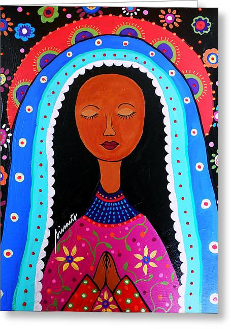 Our Lady Of Virgen Guadalupe Greeting Card by Pristine Cartera Turkus