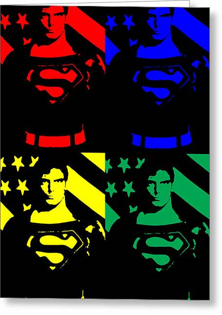 Greeting Card featuring the digital art Our Man Of Steel by Saad Hasnain