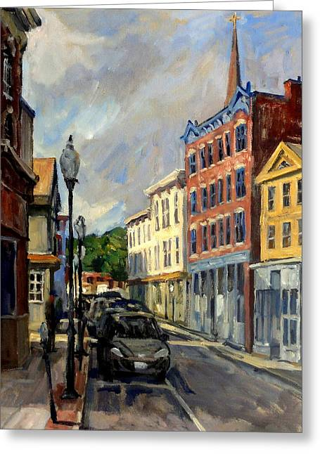 Our Town North Adams Greeting Card by Thor Wickstrom