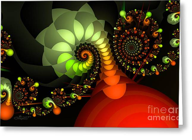Out Of Control Greeting Card by Jutta Maria Pusl