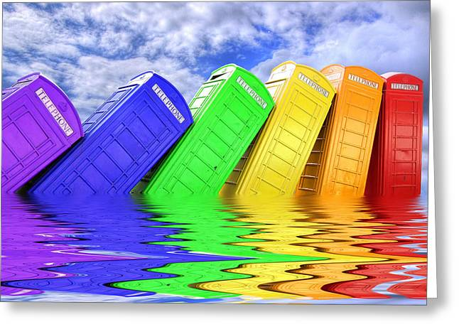 Out Of Order - A Rainbow - Kingston - Surrey Greeting Card by Colin J Williams Photography