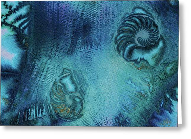 Greeting Card featuring the painting Out Of The Depths by Mary Sullivan