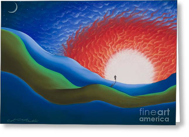 Out Of The Sun Greeting Card