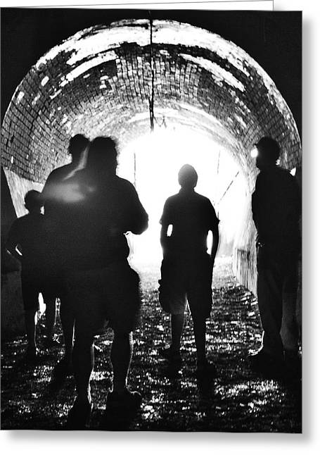 Out Of The Tunnel Greeting Card by Betsy Knapp