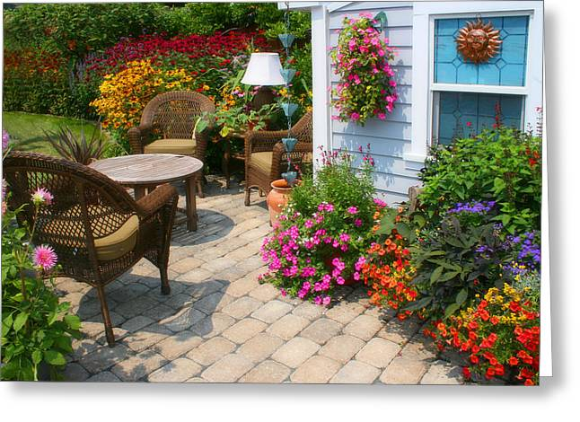 Outdoor Patio Greeting Card