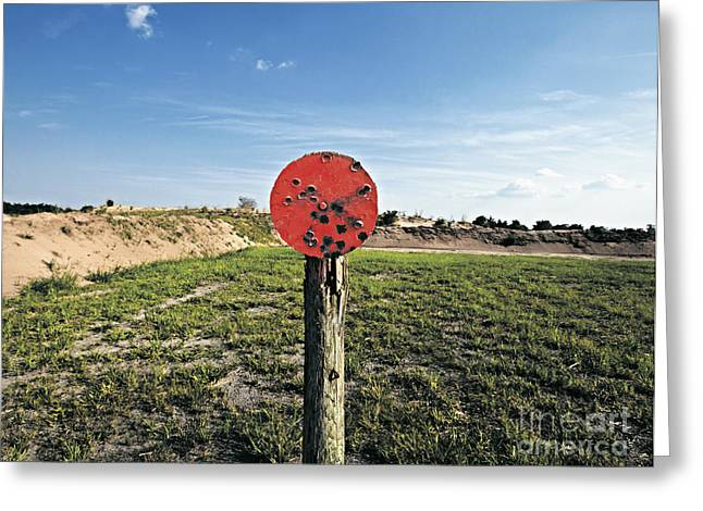 Outdoor Target Greeting Card by Skip Nall