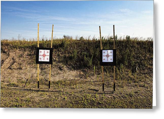Outdoor Targets Greeting Card by Skip Nall