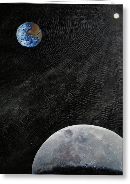 Outer Space Greeting Card by Alan Schwartz