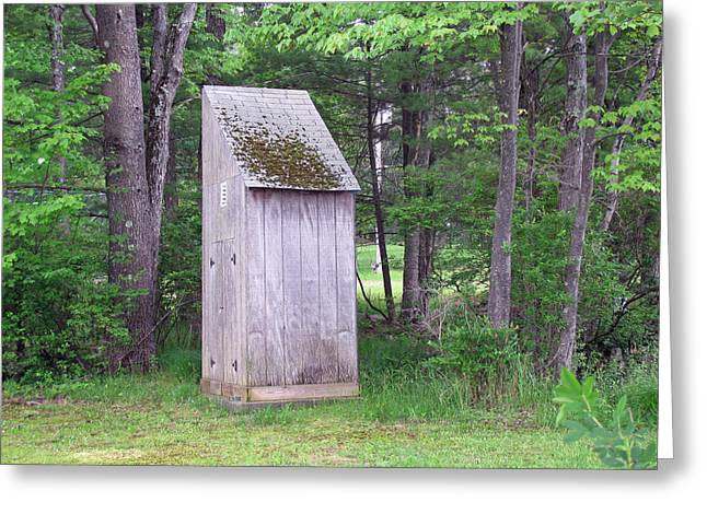 Outhouse In The Woods Greeting Card
